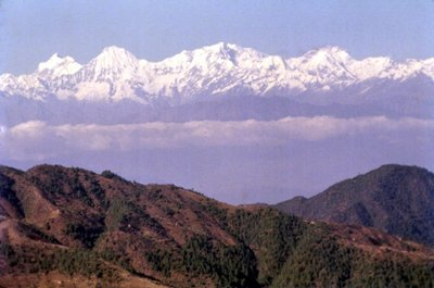 The Himalayas from Nagakot