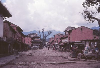 Pokhara main street of town, 1966