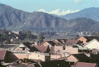 Across the rooftops of Kathmandu