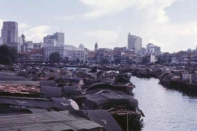 Sampans on the Singapore River