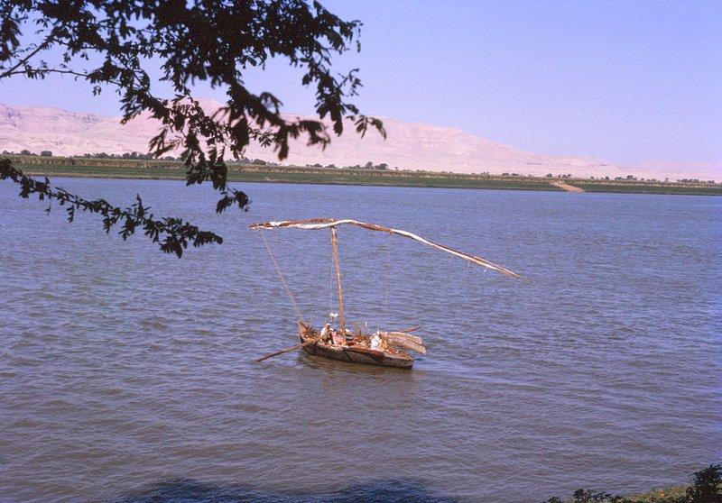 Skiff on the Nile, Luxor