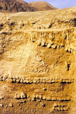 Stratas in Excavations, Jericho
