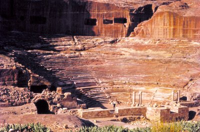 Onstage in Petra