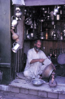 Coppersmith, Kabul Bazaar