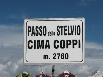 At the top of Passo del Stelvio