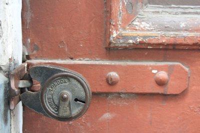 A door lock on Flinders Lane