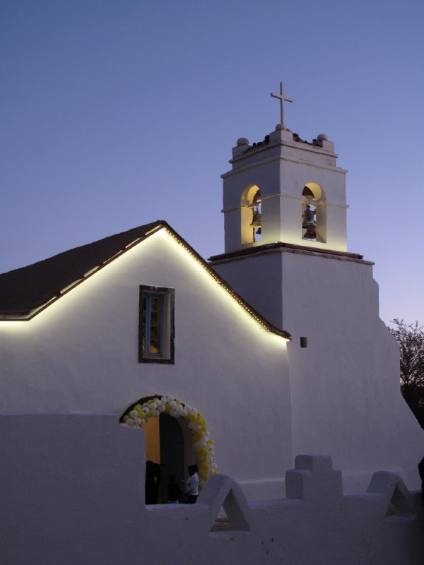 San Pedro Church by night