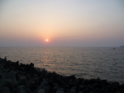 Sunset at Nariman Point