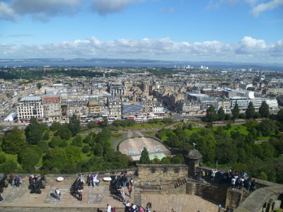 The view of the New Town from the Castle