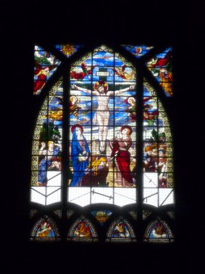 Stained glass at the St-Pierre-de-Montmartre