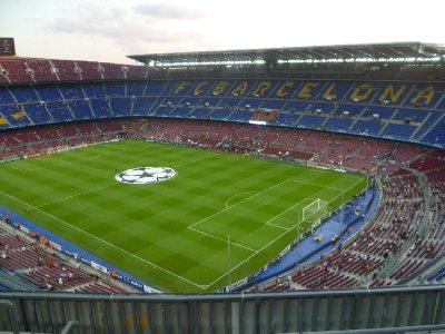 Arriving at Camp Nou