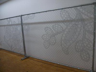 Barbed artwork