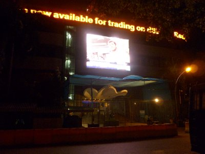 Keen observers may notice the bull in the Bombay Stock Exchange courtyard