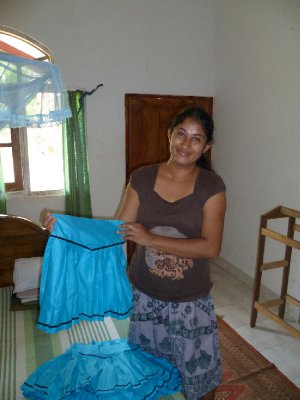Kumudu with her finished item