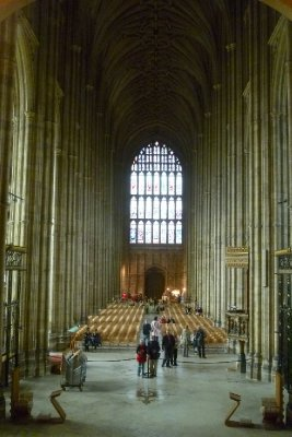 Looking down into the Nave