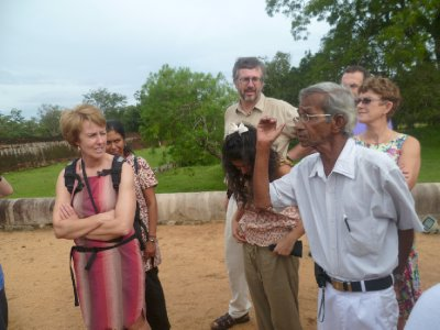 Eddie explains the significance of the Anurahapuran ruins