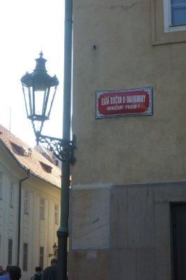 Praha street signs
