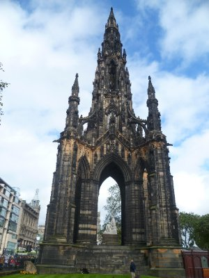 The Scott Monument in Princes St Gardens