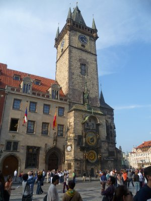 The astronomical clock in the Old Town Square