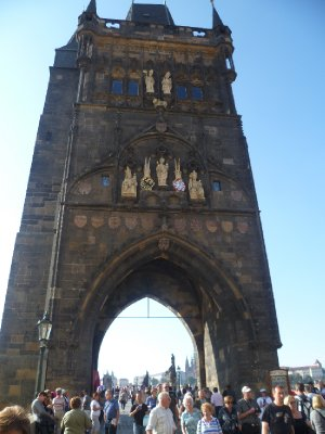 The entry to Charles Bridge