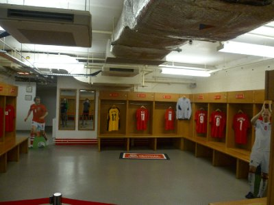The football changing rooms