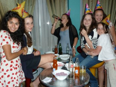 The girls at Liam's party