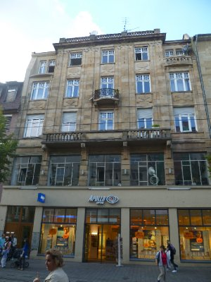 The optometrists which was once a Beddengescheft - my great-grandparents bedding store