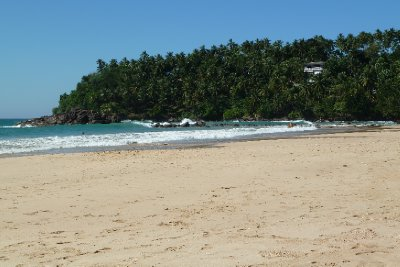 The picturesque Mirissa beach