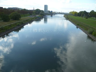 The river running through Mannheim