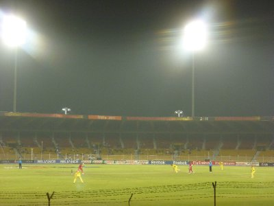 The stadium under lights