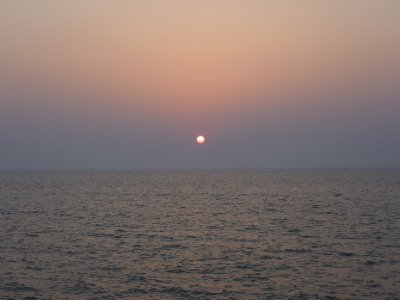The sun sets on my India trip