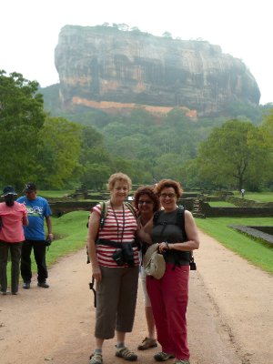 The three degrees at Sigiriya