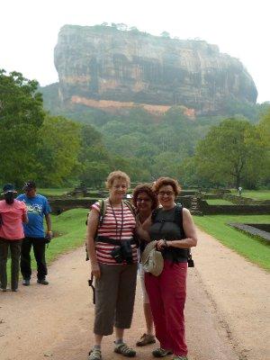 The three degrees at Sigiriya