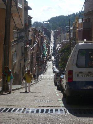 The trek up to the Parc Güell
