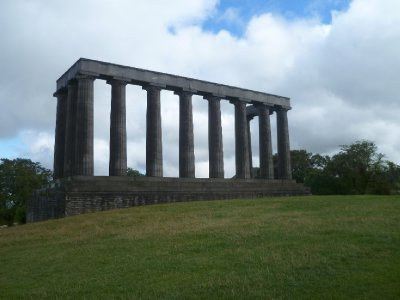 The unfinished Parthenon-like building on Calton Hill