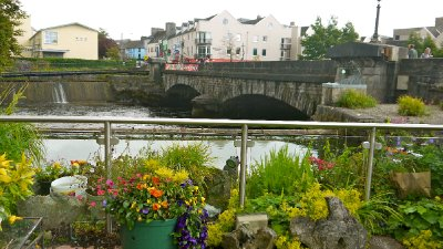 The view from the back garden of St Martin's B&B, Galway