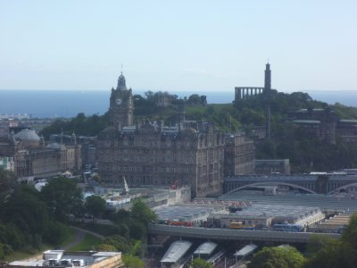 The view of Calton Hill from the Castle