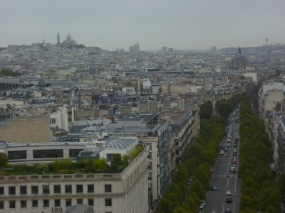 The view of Montmartre and the Sacré Coeur