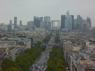 Towards the Paris office blocks
