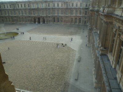 View from the Louvre, notice the couple in the square