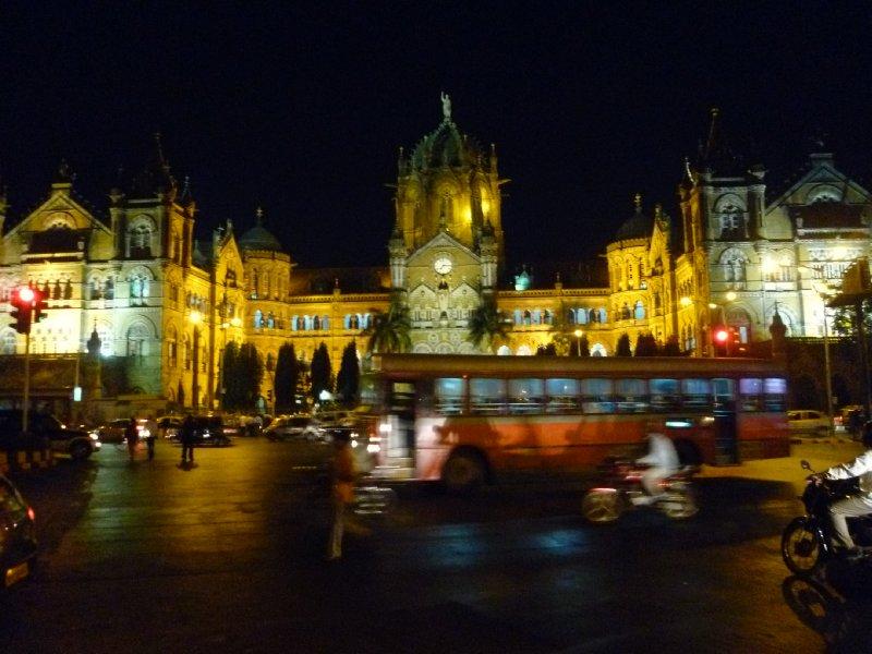 CST (Victoria Terminus) by night