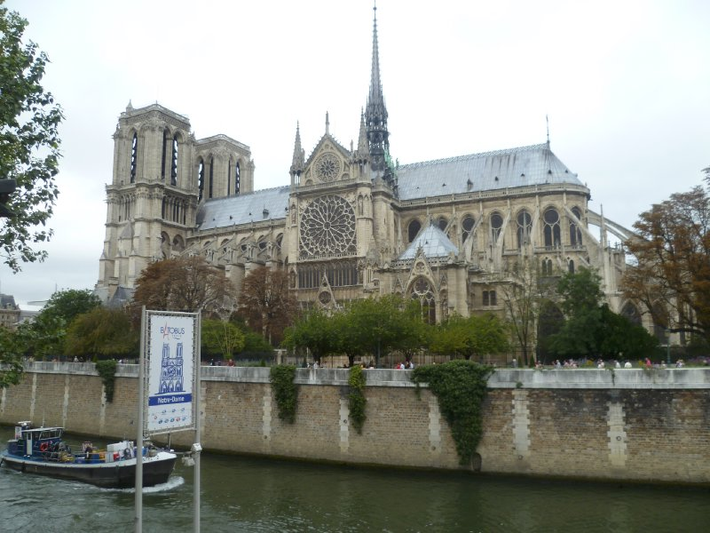 The Notre-Dame from across the Seine