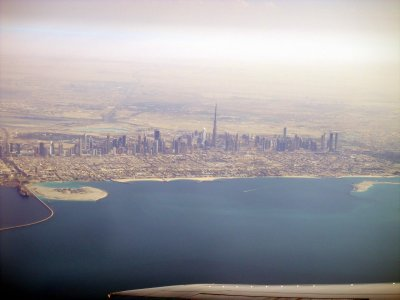Dubai skyline.. on our way home to Johannesburg