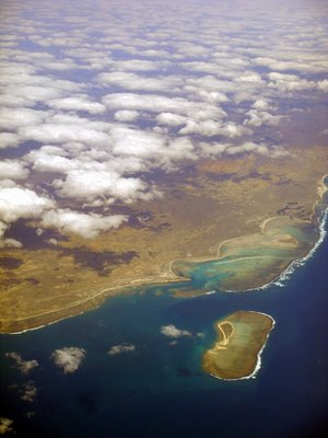 in flight.. making landfall Madagascar...
