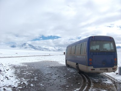 From Chile into Bolivia...cold and crazy altitude!!!