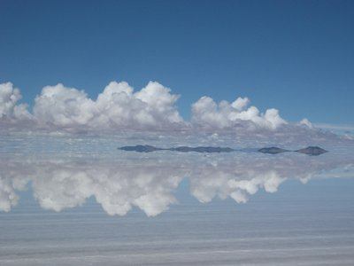 Rainy season turns the salt flat into a stunning and huge mirror