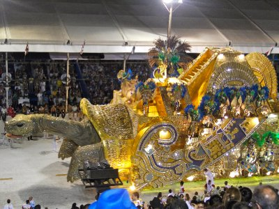An example of the amazing floats in the Sambadrome