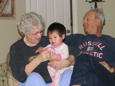 Grace With Grammy and Grandpa Stearns