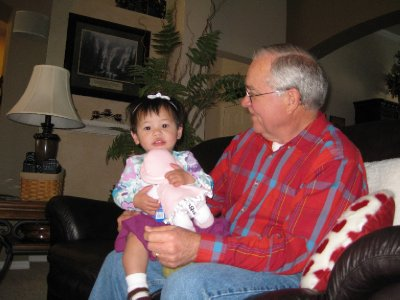 Grace and Grandpa Olsson