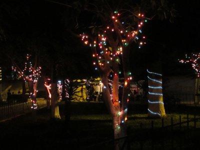 Chritmas light on the Nahuizalco main square